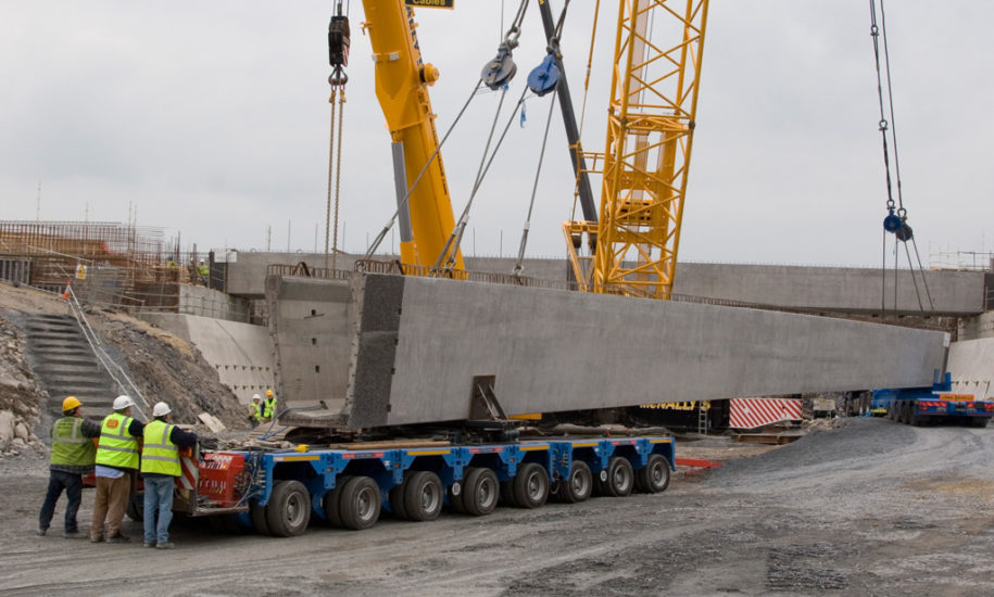 Limerick Tunnel Approach Bridge WBeam Banagher Precast Concrete